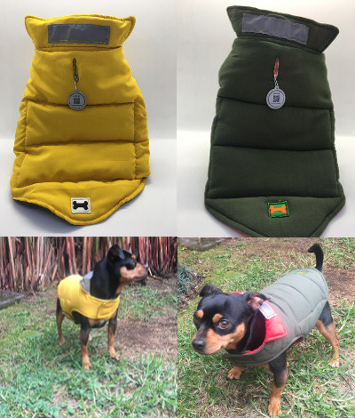 Dogs  vests double face QR APP